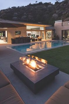 Most popular small backyard landscaping ideas with pool - Installing a pool will enhance your backyard's look Country Fireplace, Fireplace Garden, Fireplace Ideas, Fireplace Mantle, Fireplace Bookshelves, Fireplace Outdoor, Black Fireplace, Small Fireplace, Farmhouse Fireplace