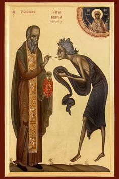 Orthodox Prayers, Orthodox Christianity, Byzantine Icons, Byzantine Art, St Mary Of Egypt, Jesus Pictures, Albrecht Durer, Catholic Saints, Art Icon