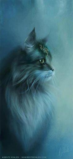 El gato que está triste y azul...