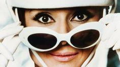0711a65fdf62 Audrey Hepburn wearing Oliver Goldsmith Sunglasses