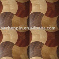 arce roble bálsamo de nogal suelo de parquet de madera de marquetería incrustaciones