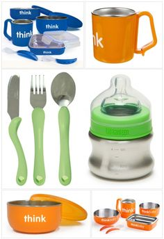 Non-Toxic Baby Feeding Sets - Stainless Steel Products www.organicremix.com