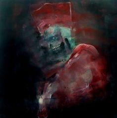 """Saatchi Art Artist: Oscar Sancho Nin; Acrylic 2014 Painting """"Cardinal"""""""