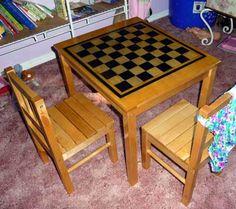 DIY Crafts DIY Checkered : DIY Svala Checkerboard Table