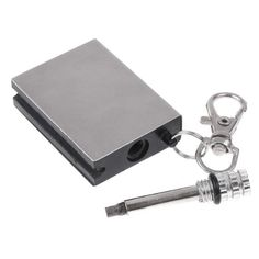 Kingzer 10 PCS Permanent Flints Metal Match Lighter Striker Gadget Keyring Flame Durable -- A special product just for you. See it now! : Camping gadgets