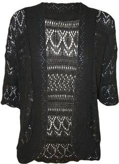 PaperMoon Women's Plus Size Crochet Knitted Short Sleeve Cardigan, http://www.amazon.com/dp/B00D470QAU/ref=cm_sw_r_pi_awdm_rhhWtb149JYPC