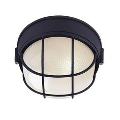 Bring your outdoors to light with LED Simplicity at its best. This simple light comes in a round shape with an on-trend black finish and frosted glass to fit your style and an added bonus of being ENERGY STAR rated for longevity. Outdoor Barn Lighting, Outdoor Wall Lantern, Outdoor Walls, Outdoor Flush Mounts, Outdoor Wall Sconce, Thing 1, Diffused Light, Light Led, Flush Mount Lighting