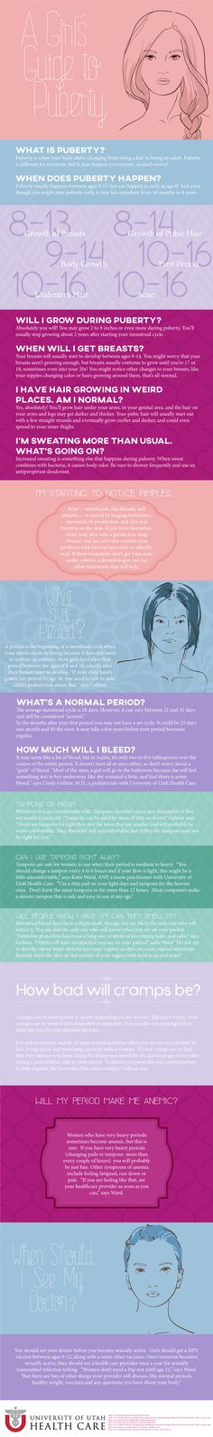 Puberty can be difficult for girls. Here are answers to some of the difficult questions.