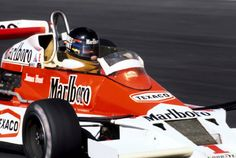 James Hunt on his way to victory in the McLaren, Japanese GP , Fuji Speedway, 1977