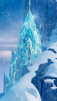 Day 7 Favourite Castle: Elsa's Ice castle from Frozen Disney Princess Drawings, Disney Princess Pictures, Disney Princess Art, Disney Drawings, Disney And Dreamworks, Disney Pixar, Walt Disney, Disney Art, Frozen Background