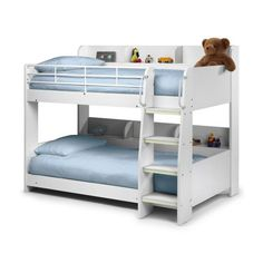 Julian Bowen Domino Bunk Bed in White |up to 60% OFF RRP| Next Day - Select Day Delivery