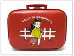 I have this suitcase, of course I got it from my grandma, and I don't use it anymore, but I still have it!