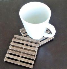 Posavasos forma mini pallets de madera  #DIY #RECICLAR