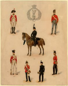 British; King's Royal Rifle Corps, Corporal & Rifleman, 1850 by P.W.Reynolds