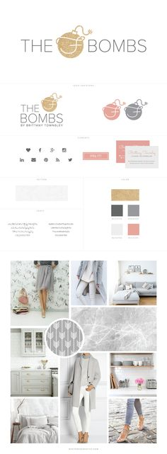 WordPress Blog Design for Lifestyle Blog The F-Bombs by White Oak Creative - logo design, wordpress theme, mood board inspiration, blog design idea, graphic design, branding