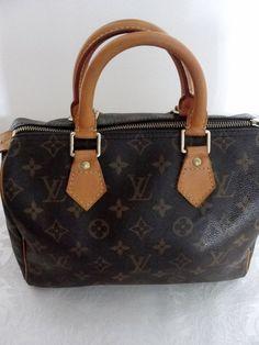 Authentic Louis Vuitton Monogram Speedy 25 Doctor Satchel Handbag Bag
