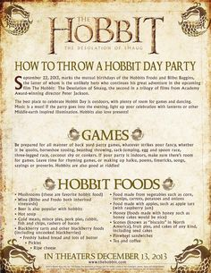 Are you ready for Sunday's festivities? Here are our tips on how to throw a brilliant #HobbitDay party! #TheHobbit