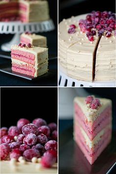 White Chocolate Cranberry Cake ~  we ❤ this! moncheribridals.com  #weddingcake