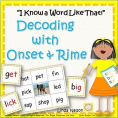 """Knowing how to use analogy with onset and rime to quickly decode words is essential to success in early reading. This game set will provide practice in recognizing common short vowel and long vowel spelling patterns, and in applying the onset/rime principle with those patterns.In no time at all, you'll hear your young readers saying, """"I know a word like that!""""This set contains:* Word cards for 12 key words in 12 different short vowel spelling patterns (one set in black text, one set with the…"""
