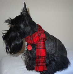 Plaid Adjustable Fleece Dog Scarves for your by pricelesspcs, $7.00