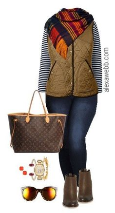 Plus Size Brass Vest Outfit - Plus Size Fashion for Women - alexawebb.com #alexawebb