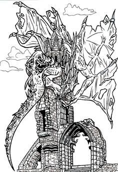 Creativity of Fià: Drago sulla torre
