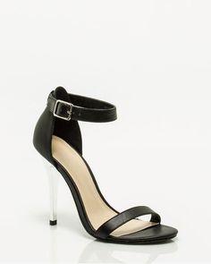 Le Château: Leather-Like Ankle Strap Sandal, $59.95