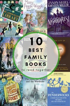 Reading together as a family improves children's literacy skills and inspires family bonding. Try these 10 best family books to read together. Read Aloud Books, Good Books, Homeschool Books, Homeschooling, Homeschool Curriculum, Early Readers, Book Suggestions, Kids Reading, Reading Lists