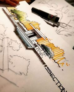 "Polubienia: 1,579, komentarze: 8 – MOHAMMAD.ANSARI (@m.ansari.architect) na Instagramie: ""environmental elements + section جلسه چهارم دوره آموزش #اسکیس _ترسیم مقطع و عناصر محیطی #تهران…"""
