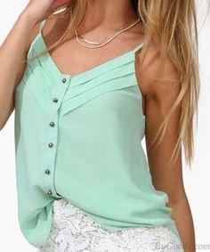 Beliebte Einreiher Hemd Dame Weste only $14.99 in ByGoods.com!