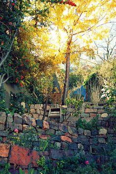 Taken in Jerome, AZ - love the stone walls, etc.