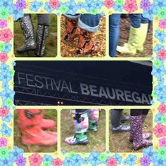 festival de bottes de pluie au festival Beauregard