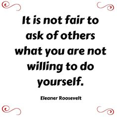 This is how we should view responsibility.  #EleanorRoosevelt