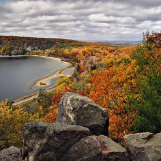 Devil's lake State park, hte most visited state park in Wisconsin. fall colors like Ive never seen before!