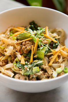 Spicy Ginger Pork Noodles With Bok Choy Recipe - NYT Cooking melissaclark Bok Choy Recipes, Pork Recipes, Asian Recipes, Cooking Recipes, Ethnic Recipes, Baby Bock Choy Recipes, Easy Cooking, Savoury Recipes, Cooking Games
