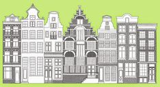 "Zartartz: ""Amsterdam street elevation""  Custom art by Esther..."