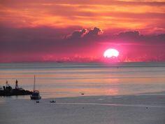 sunset in colonia del sacramento -uruguay