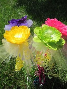 Beautiful Boutique Flower Fairy Wands  Perfect for by bloomnbows, $4.00