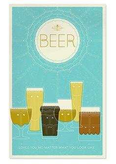 Beer, poster, font