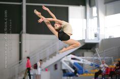 Melitina Staniouta exercising/practicing Rhythmic Gymnastics