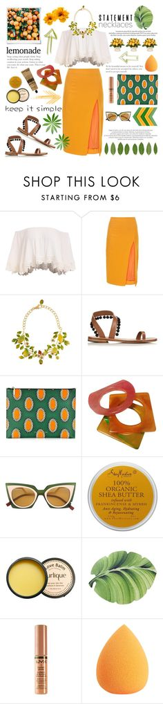 """""""Collared! Statement Necklaces"""" by bklana ❤ liked on Polyvore featuring Altuzarra, Dolce&Gabbana, Polaroid, Victoria Beckham, Yves Saint Laurent, Fendi, Louis Vuitton, SheaMoisture, Jurlique and NYX"""