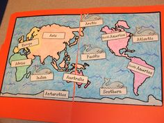 Free continents and oceans file folder activity, plus lots of pics and links to other freebies for learning the continents