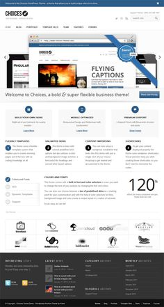 Choices responsive WordPress theme for business and portfolio site http://www.webtempo.ch