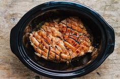 Slow Cooker Pork Belly with Honey Balsamic Glaze - Fall-apart tender and infused with a sticky tangy glaze. Slow Cook Pork Roast, Slow Cooker Pork Belly, Slow Cooked Pork, Slow Cooker Roast, How To Cook Pork, Slow Cooker Recipes, Cooking Recipes, Crockpot Recipes, Pork Belly Recipes