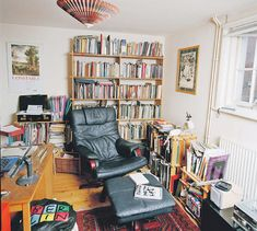 Wendy Coper, writer's space. Who needs a desk when you can have a comfy chair.
