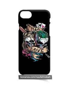 Harley Quinn Joker Sugar Skull iPhone 5 5s 5c 6 6s 7 8 + Plus X Case Cover