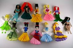 Magnificent Treasures | 10 Princess Inspired Ribbon Sculpture Hair Clips | Online Store Powered by Storenvy