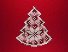 Filetto dell'albero di Natale Fsl pizzo ricamo design