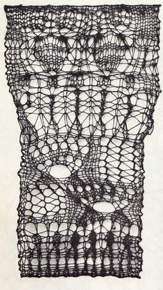 "Mary Walker Phillips; from the book: ""Creative Knitting: A New Art Form"".  beautiful and original and quirky. i love it."