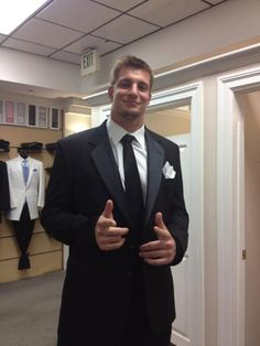 Rob Gronkowski - New England Patriots (TE) He looks so good in that football uniform...but he fills this suit so nicely!